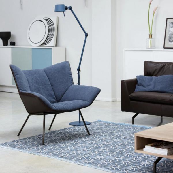 Designer stoel blauw
